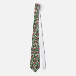 Red Montmorency cherries on tree in cherry orchard Neck Tie