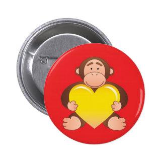 Red Monty Button