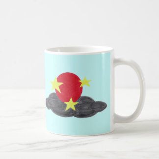 Red Moon and Stars Mug