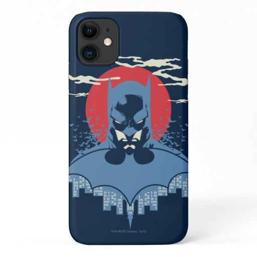 Red Moon Batman With Logo iPhone 11 Case