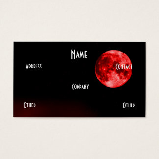 Red Moon Business Card