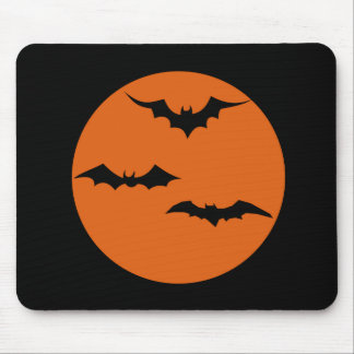 Red Moon Halloween Mouse Pad