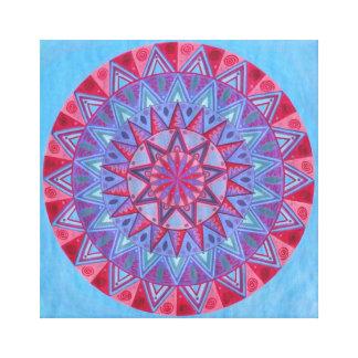 Red Moon Mandala Canvas Print