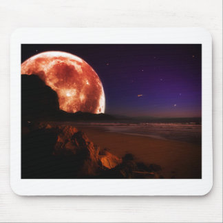 Red Moon Mouse Pad