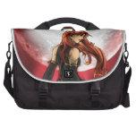 Red Moon Pinup Art Laptop Bags