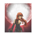 Red Moon Pinup Art Memo Note Pads