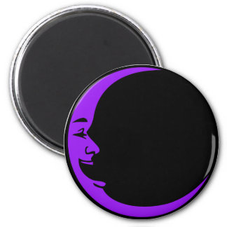 Red Moon Purple Moon Green Moon White Laughing Man 2 Inch Round Magnet