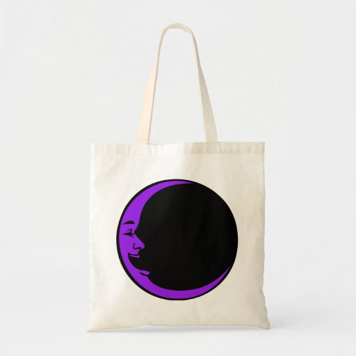 Red Moon Purple Moon Green Moon White Laughing Man Budget Tote Bag