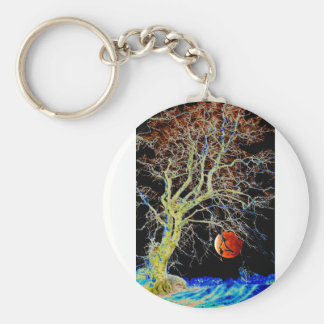 Red Moon Rising Keychain