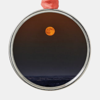 Red Moon Rising Metal Ornament