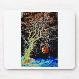 Red Moon Rising Mouse Pad