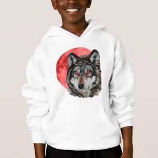 Red Moon Wolf Hoodie