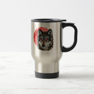 Red Moon Wolf Mug