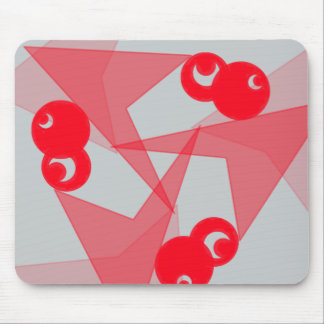 Red moons graphic mouse pad