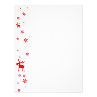 Red Moose and Red Snowflakes - Letterhead