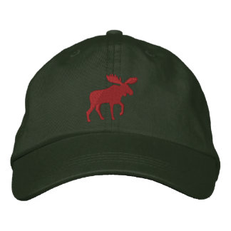 Red Moose Embroidered Baseball Hat