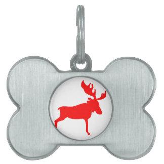 Red Moose Pet Name Tag