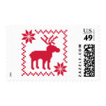 Red moose postage stamps