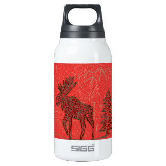 Red Moose Thermos Bottle