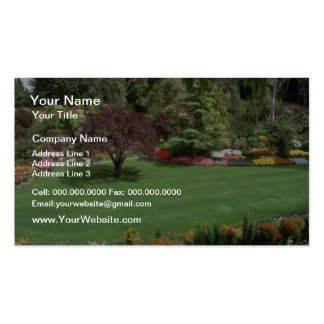 Red More gardens flowers Double-Sided Standard Business Cards (Pack Of 100)