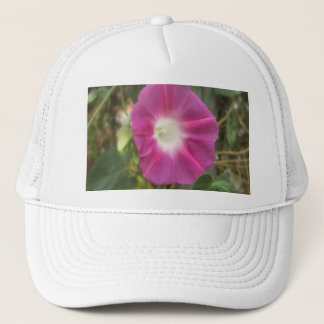 Red Morning Glory Flower Trucker Hat