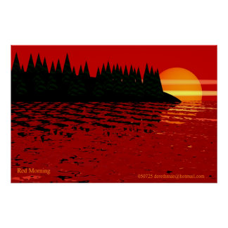 Red Morning (print) Poster