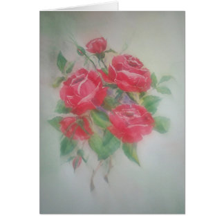 Red Morning Roses Card