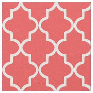 Red Moroccan Quatrefoil Fabric