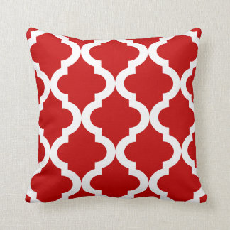 Red Moroccan Quatrefoil Pillow