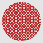 Red Moroccan Tile Stickers