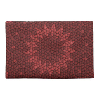Red mosaic pattern travel accessory bags