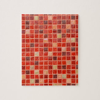 Red Mosaic Tile Background Jigsaw Puzzle