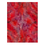 Red Mosaic Tiles Post Card