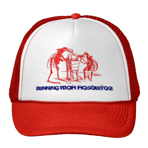 RED MOSQUITOS ~ SHARPENING UP -EZ2 CUSTOMIZE! TRUCKER HAT