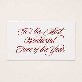 Red Most Wonderful Time of the Year Gift Tags