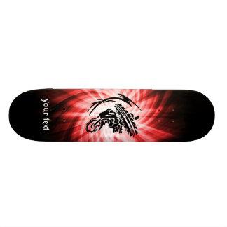 Red Motocross Skate Board Deck