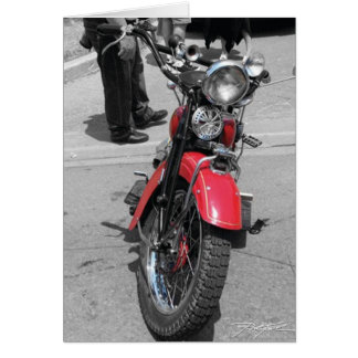 Red Motorcycle Greeting Card
