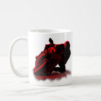 Red Motorcycle street racer Coffee Mug