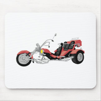 red motorcycle trike mouse pad