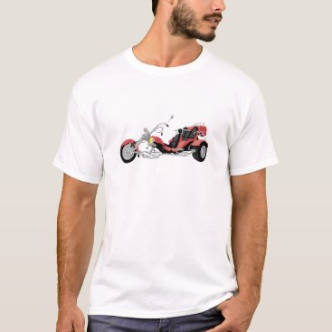 scorpionagency red motorcycle trike T-Shirt
