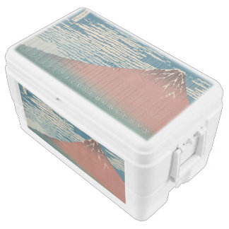 Red Mount Fuji Chest Cooler