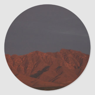Red Mountain at Twilight Classic Round Sticker