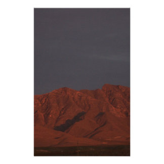 Red Mountain at Twilight Personalized Stationery