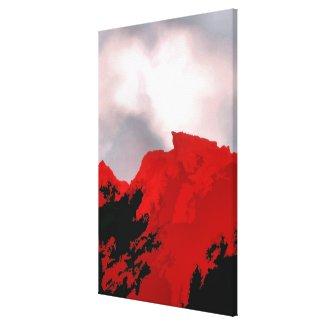 RED MOUNTAIN wrappedcanvas