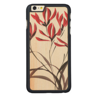 Red Mountain Flowers Carved® Maple iPhone 6 Plus Slim Case