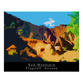 Red Mountain Poster