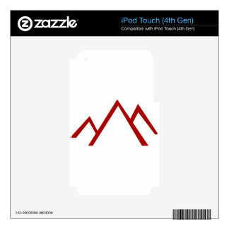 Red Mountain Range Icon Skin For iPod Touch 4G