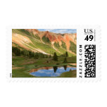 Red Mountain Reflection Postage Stamps