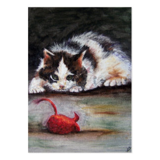 Red Mouse ACEO Art Trading Cards Large Business Cards (Pack Of 100)