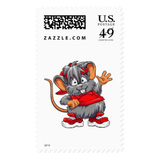 Red Mouse - Stamp